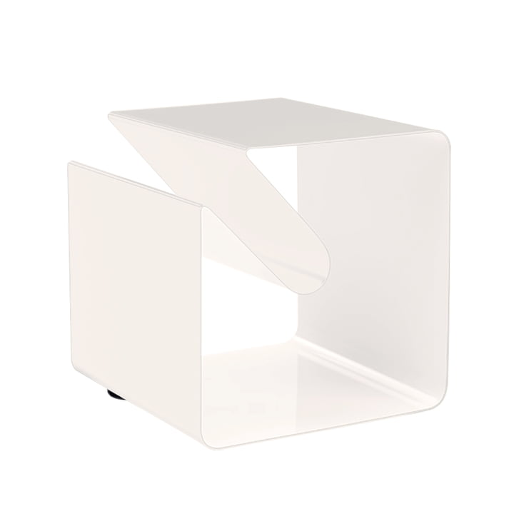 Müller Möbelfabrikation, table d'appoint V44 - blanc pur