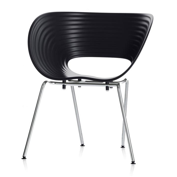 Vitra - Chaise Tom Vac, noir base