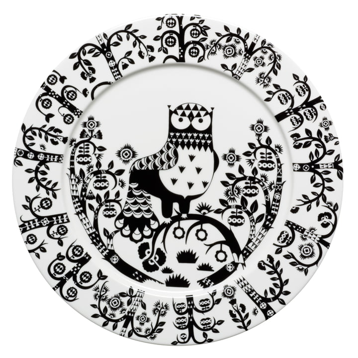 Iittala - Taika - noir - Assiette plate, Ø 30 cm