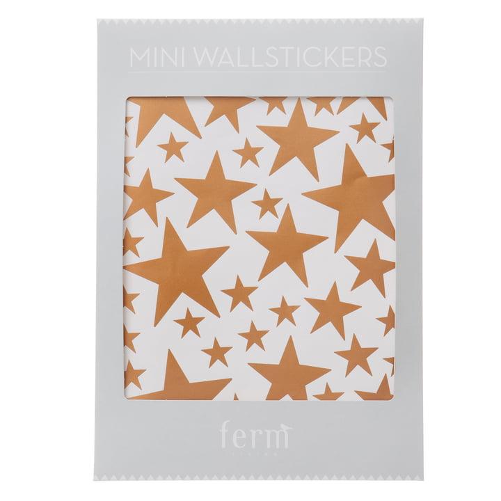 ferm Living - Mini stickers muraux, étoiles