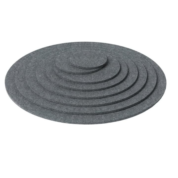 détourage: Hey Sign - Dessous de plats ronds, gris