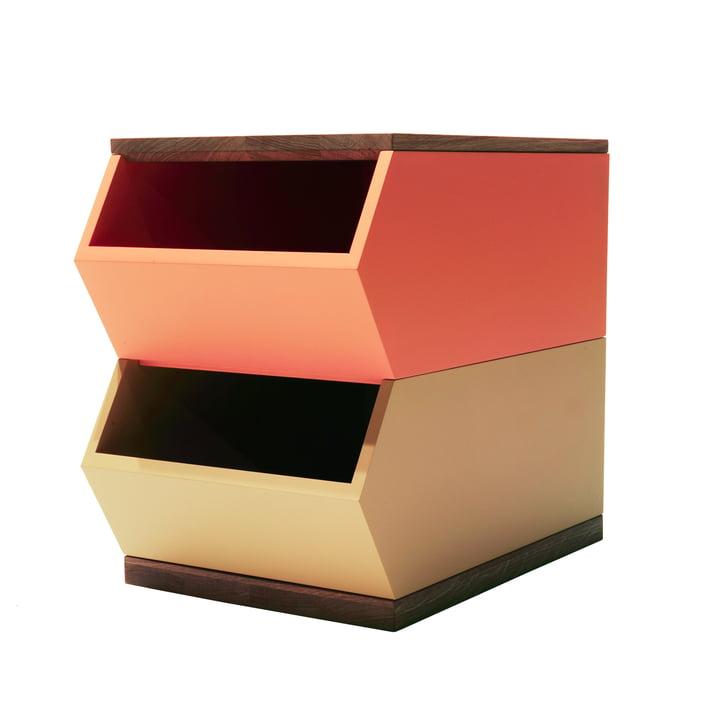 La famille Hansen - Set de 2 conteneurs, orange / jaune