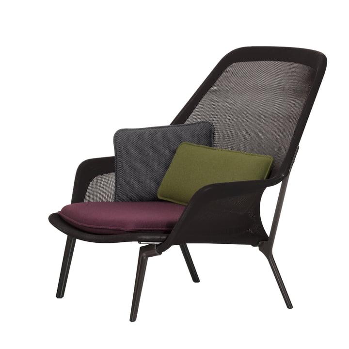 Slow Chair par Vitra en chocolat et marron