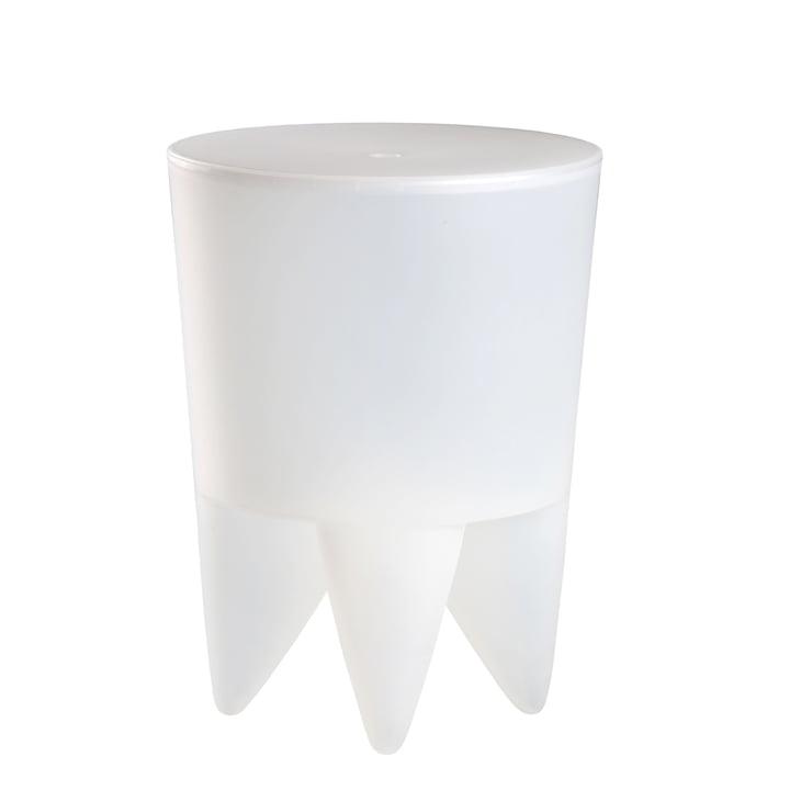 xO Design - Bubu 1er Tabouret, blanc translucide