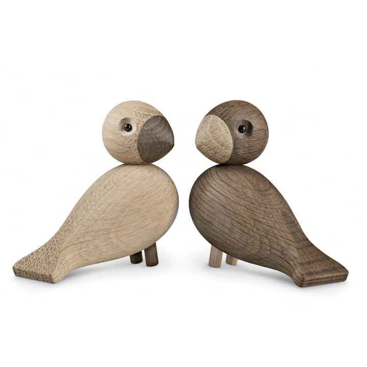 Kay Bojesen - Les inséparables, Set de 2, Oiseaux de bois