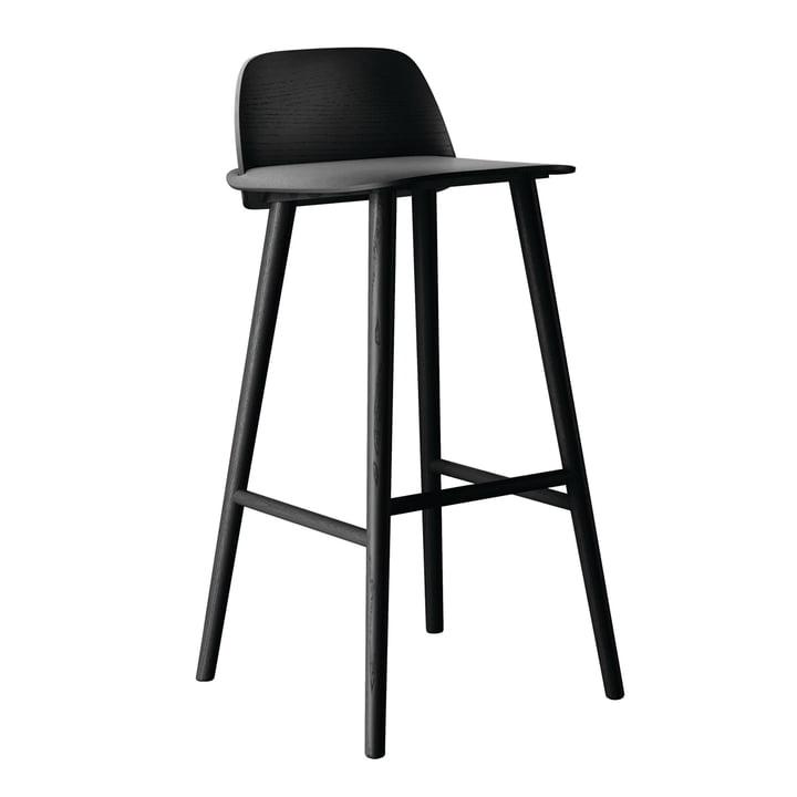 Muuto - Nerd tabouret de bar, noir, 75 cm