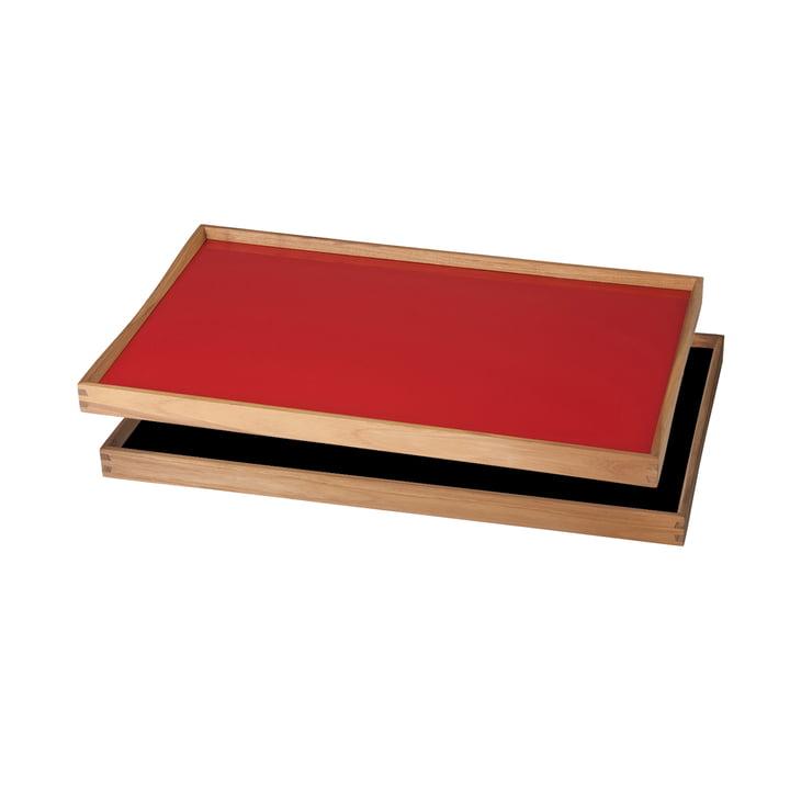 ArchitectMade - Plateau Turning Tray, 30 x 48 cm, rouge