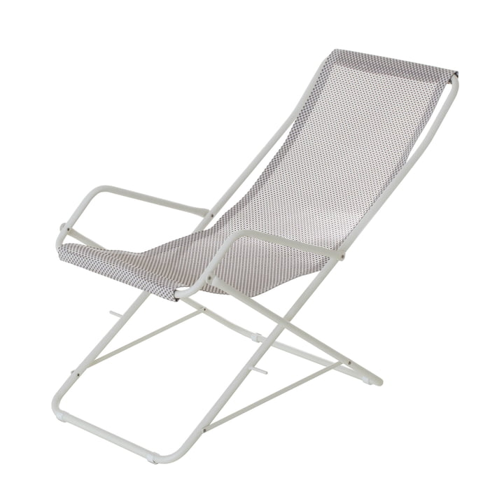 Chaise longue Bahama d'Emu en blanc / glace