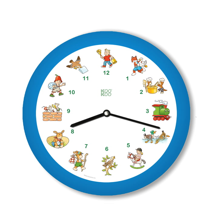 KooKoo - Horloge murale Kinderlieder, bleu