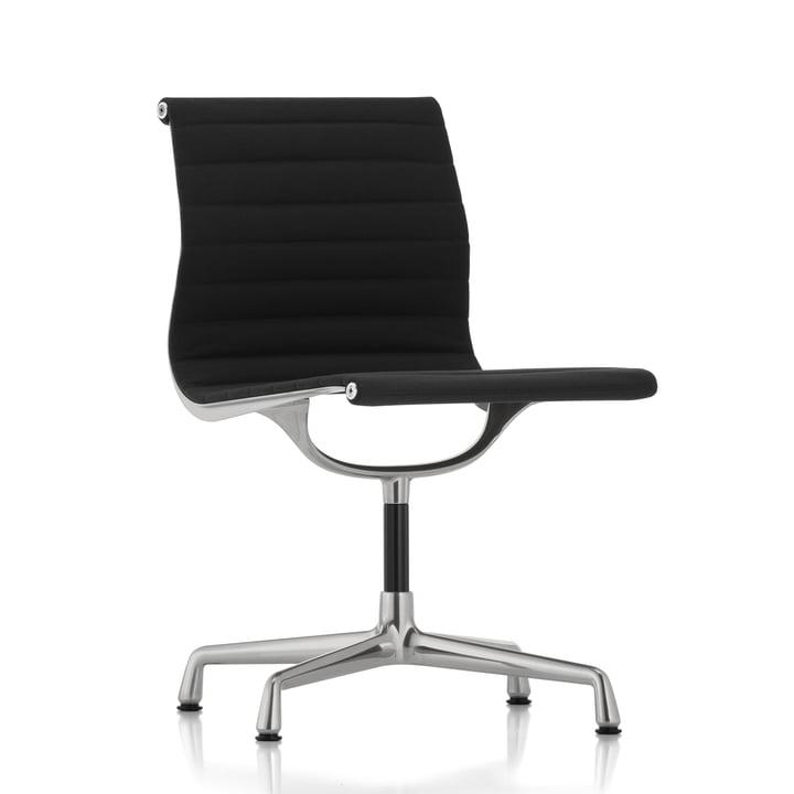 Chaise de bureau EA 101 polie Hopsack de Vitra à Nero