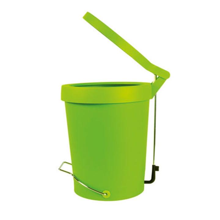 Authentics - Poubelle à pédale Tip 7 litres, vert, Ø 22 cm
