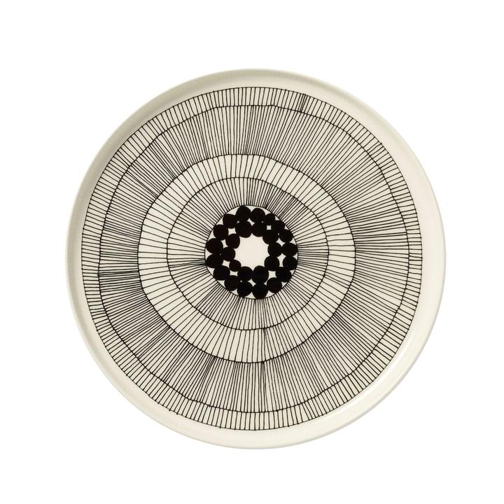 Marimekko - Siirtolapuutarha Assiette, blanc / noir