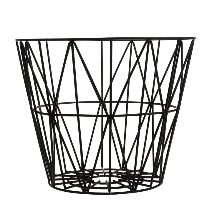 Wire Basket Medium de ferm Living en noir