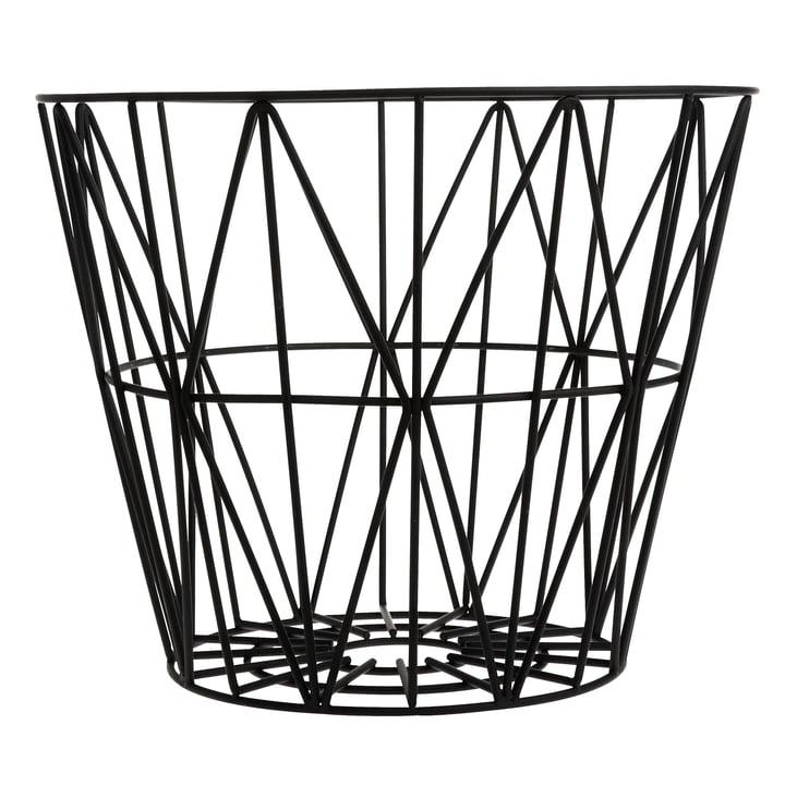 Wire Basket Large de ferm Living en noir