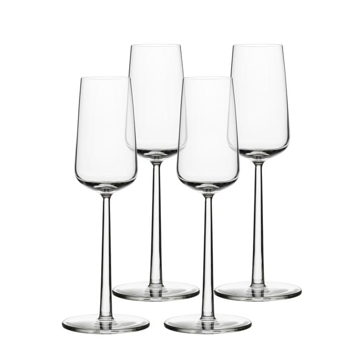 iittala - Verre à vin pétillant Essence 21 cl, Set de 4