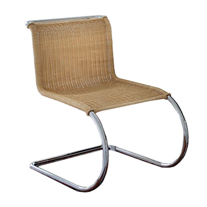 Knoll - Chaise d'appoint MR, sans accoudoirs, surface d'assise en rotin