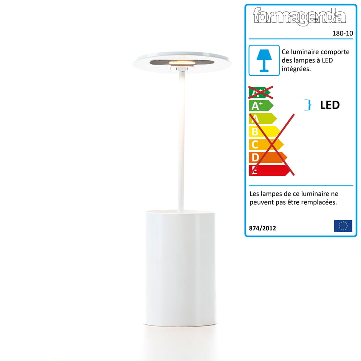 Formagenda - Lampe de table E.T. , blanc