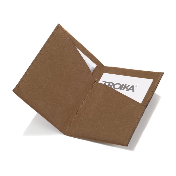 Étui pour cartes de visite Kniff2 S-Grip de Troika en marron