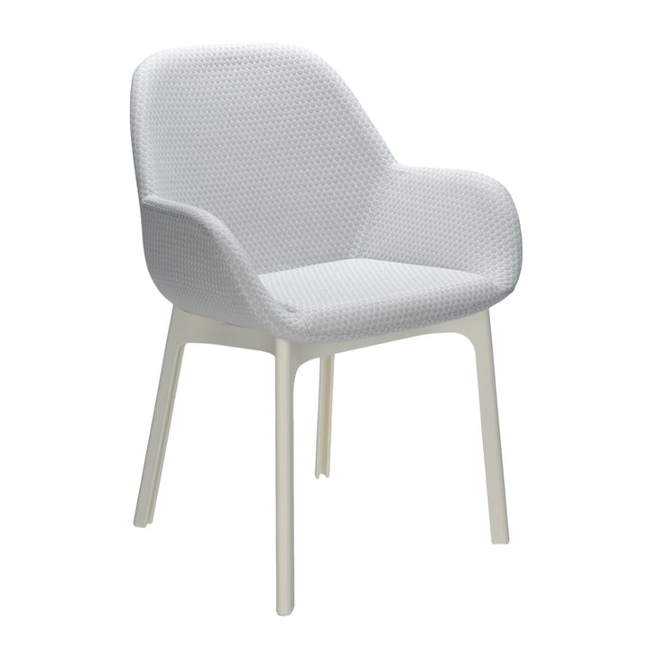 Kartell - Chaise Clap, blanc/gris