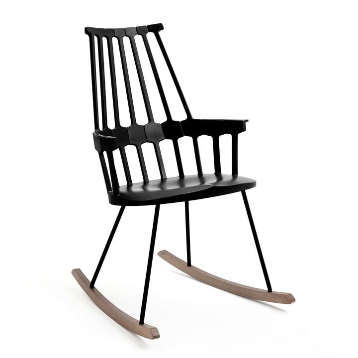 Kartell - Chaise à bascule Comback, noir