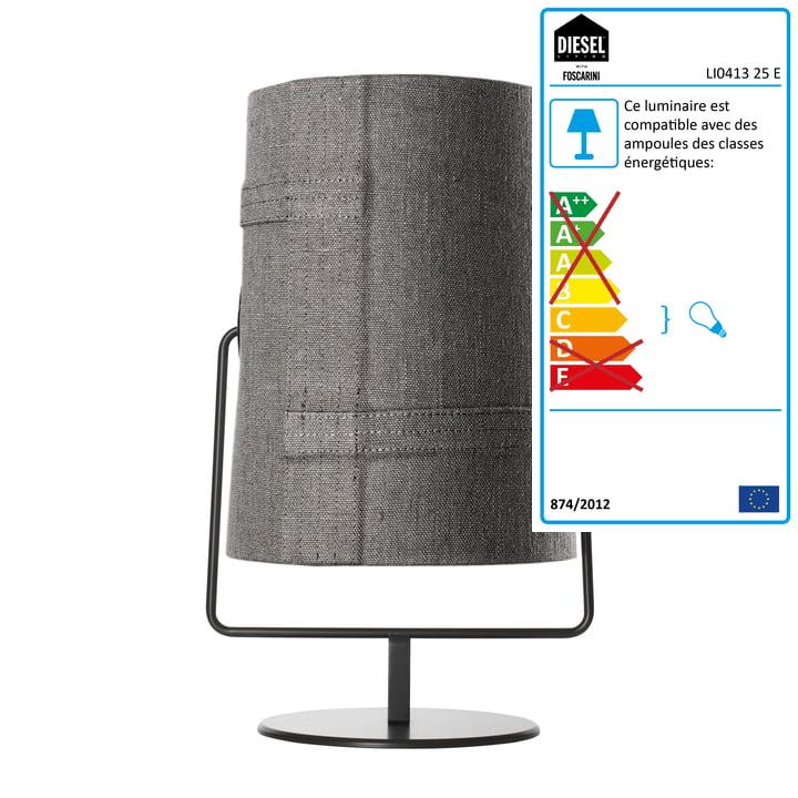 Diesel Living - Lampe de table Fork Maxi, marron/gris