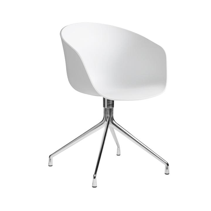 About A Chair AAC 20 par Hay en aluminium poli / blanc