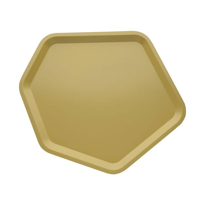 Alessi - Territoire, plateau hexagonal en acier laqué epoxy