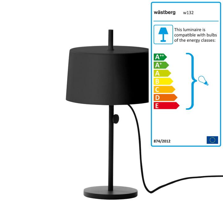 Wästberg - Lampe de table Nendo Cylinder w132t2, noir
