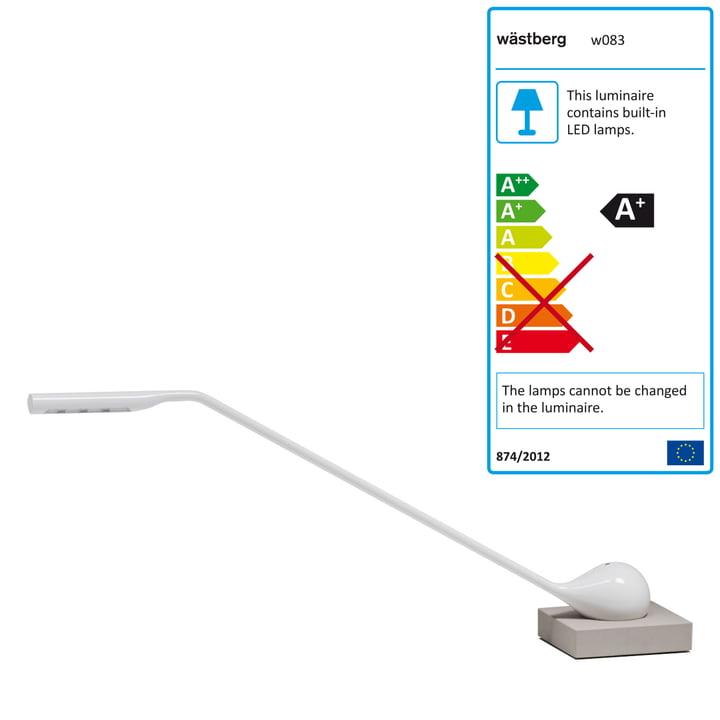 Wästberg - Lampe de table Massaud w083, blanc / gris