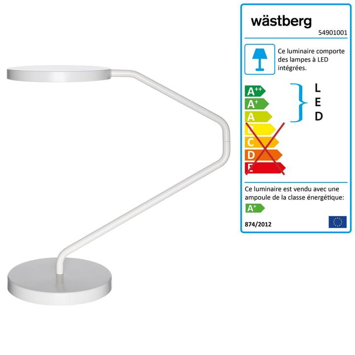 Wästberg - Lampe de table Irvine w082, blanche
