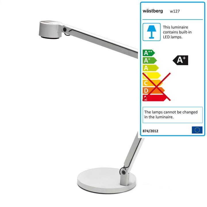 Wästberg - Lampe de table Winkel 127b2, blanc
