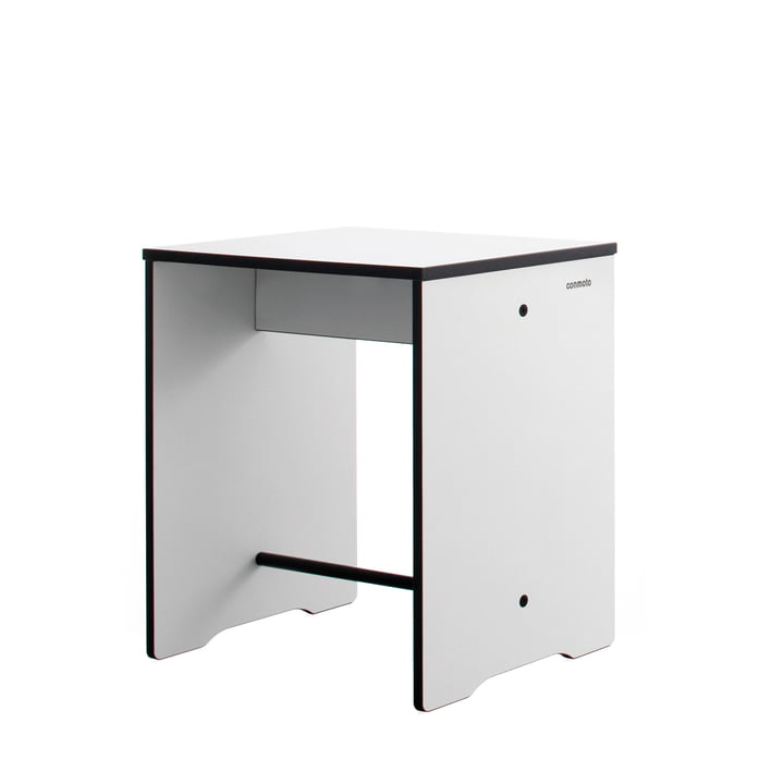 Conmoto - Tabouret / table d'appoint Riva, blanc