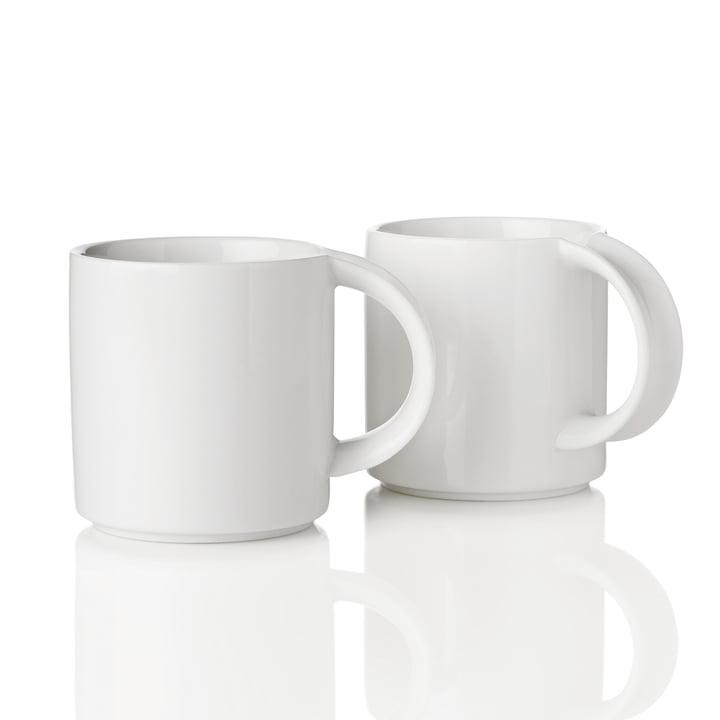 Stelton - Mug EM, blanc, lot de 2