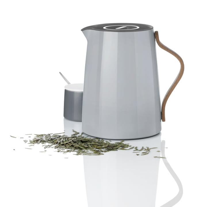 Stelton - Emma carafe isotherme de thé 1 l, gris et pot à sucre
