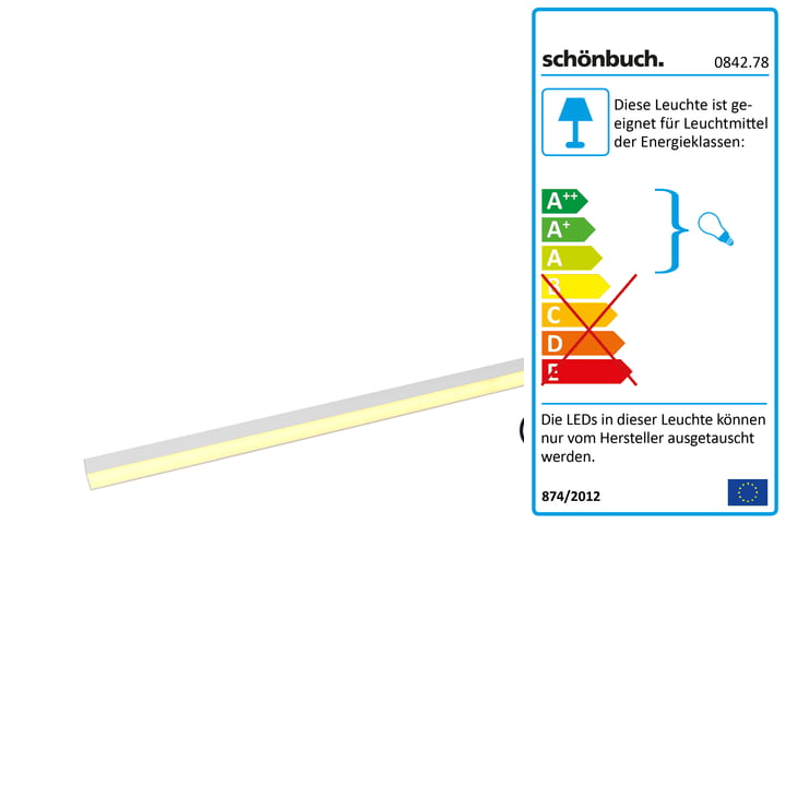 Lampe tige Frame de Schönbuch petit format en blanc avec câble noir