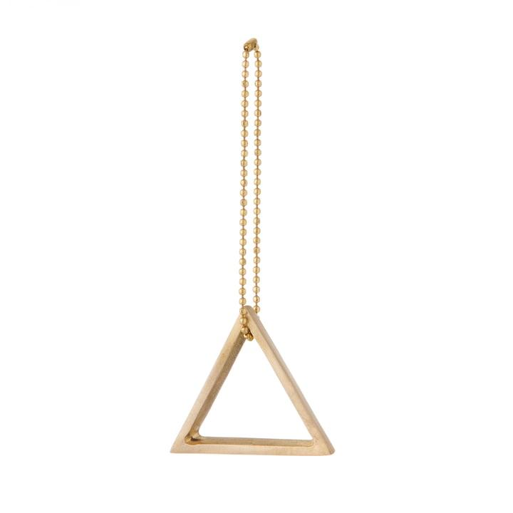 ferm Living - Ornement en laiton, triangle