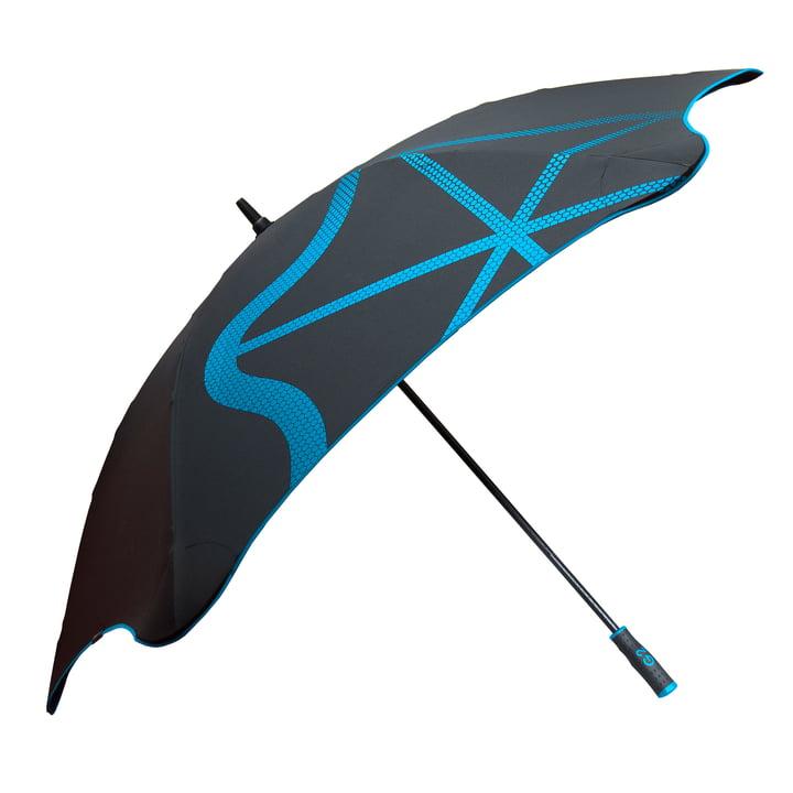 Parapluie Golf_G2 de côté, bleu
