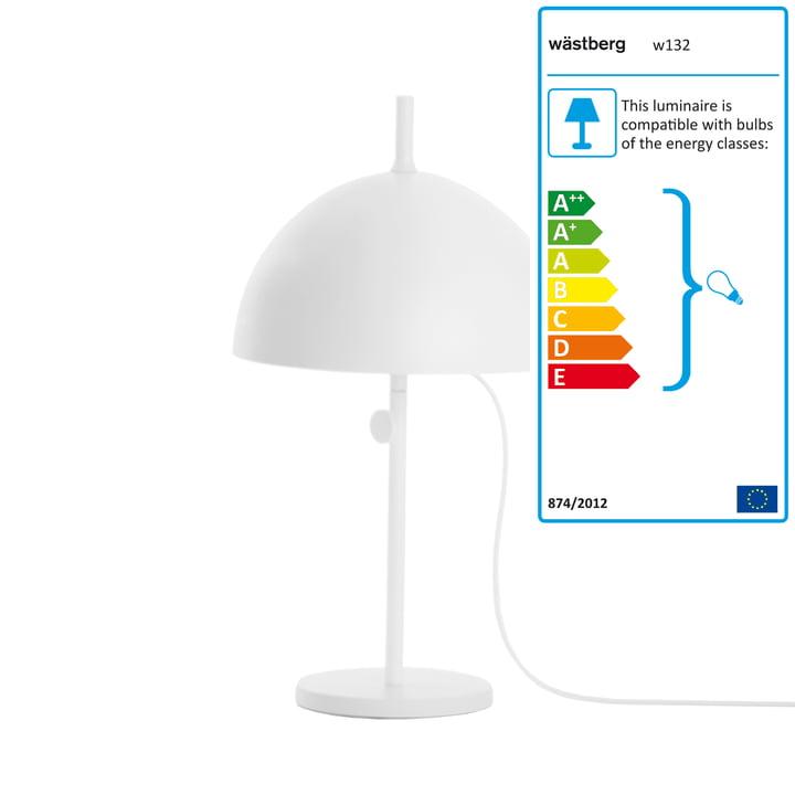 Wästberg - Lampe de table Nendo Sphere w132t3, blanc