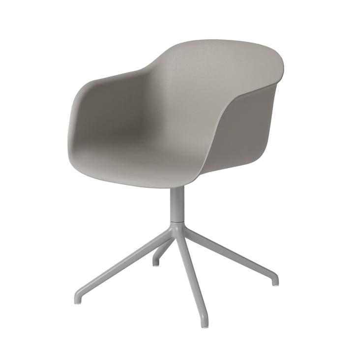 Fiber Chair Swivel Base de Muuto en gris