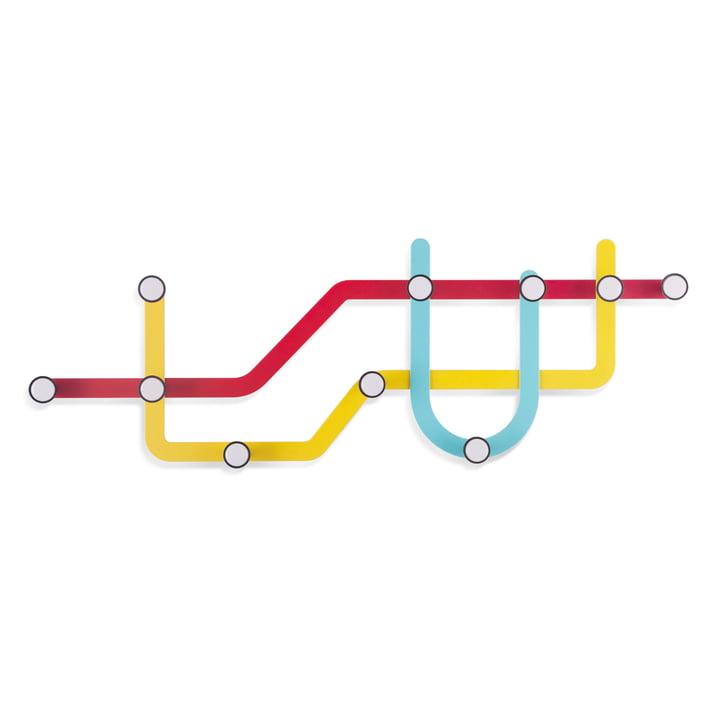 Umbra - Portemanteau mural Subway, multicolore