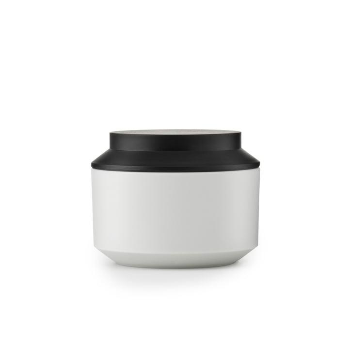 Normann Copenhagen - Boîte de rangement Geo Jar, frost/noir Ø 10cm