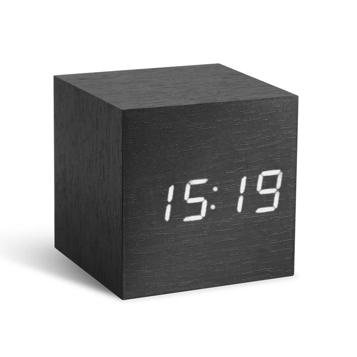 Gingko - Cube, noir/LED blanche