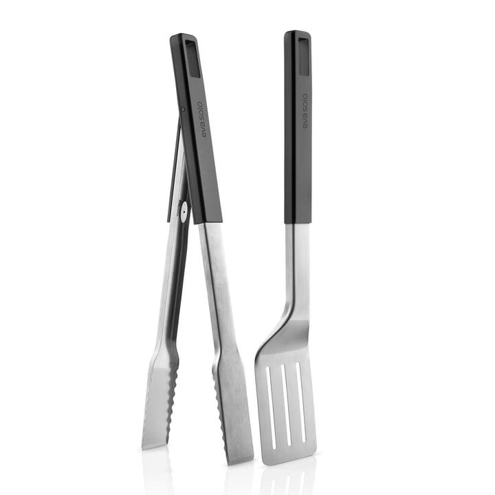 Eva Solo - Ensemble de barbecue avec pinces et spatule, noir mat