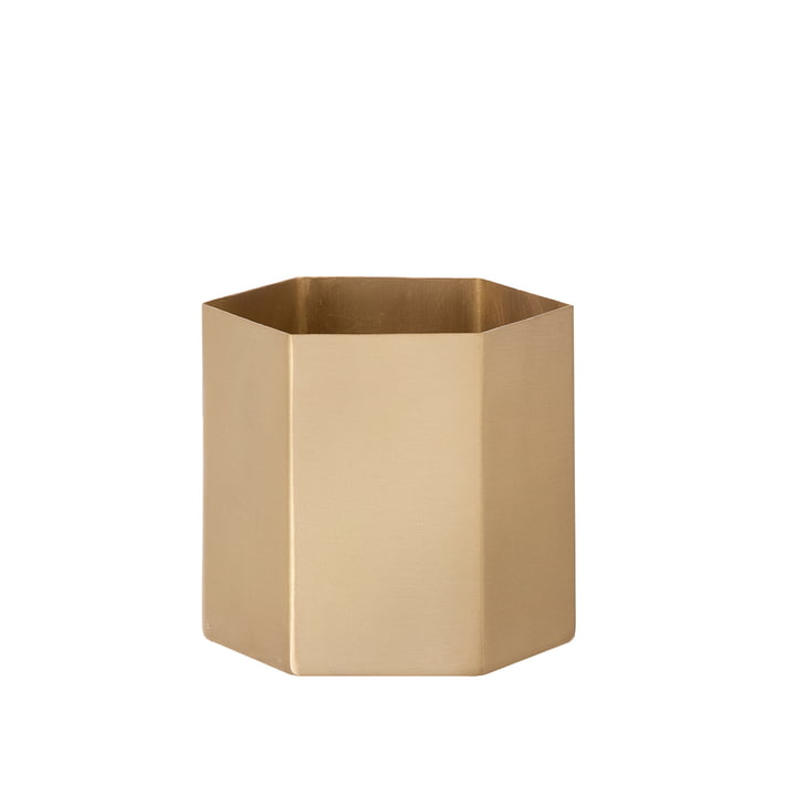 Hexagon pot small de ferm Living en laiton
