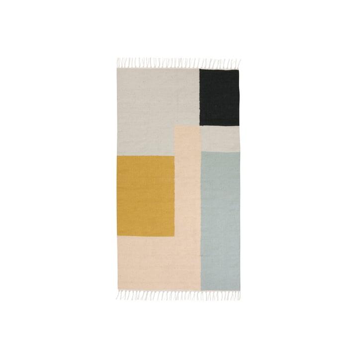 ferm Living - Tapis Kelim, carrés, petit format