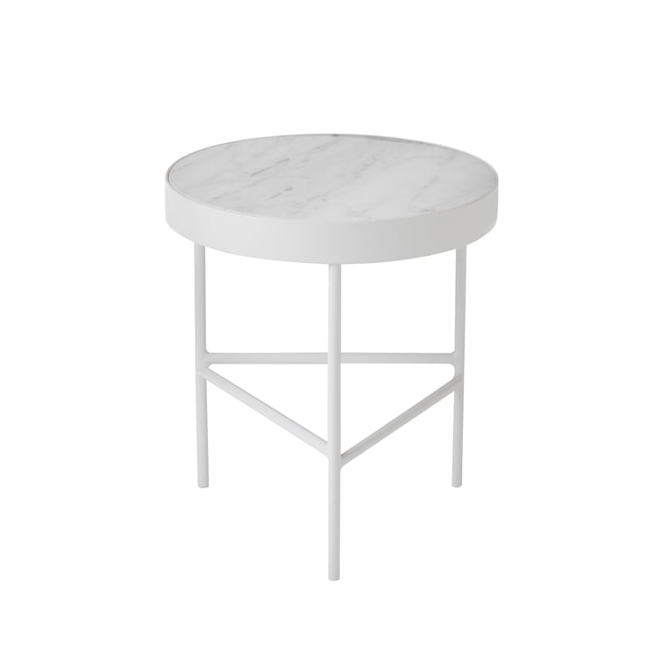 ferm Living - Table en marbre Marble, format moyen, blanc