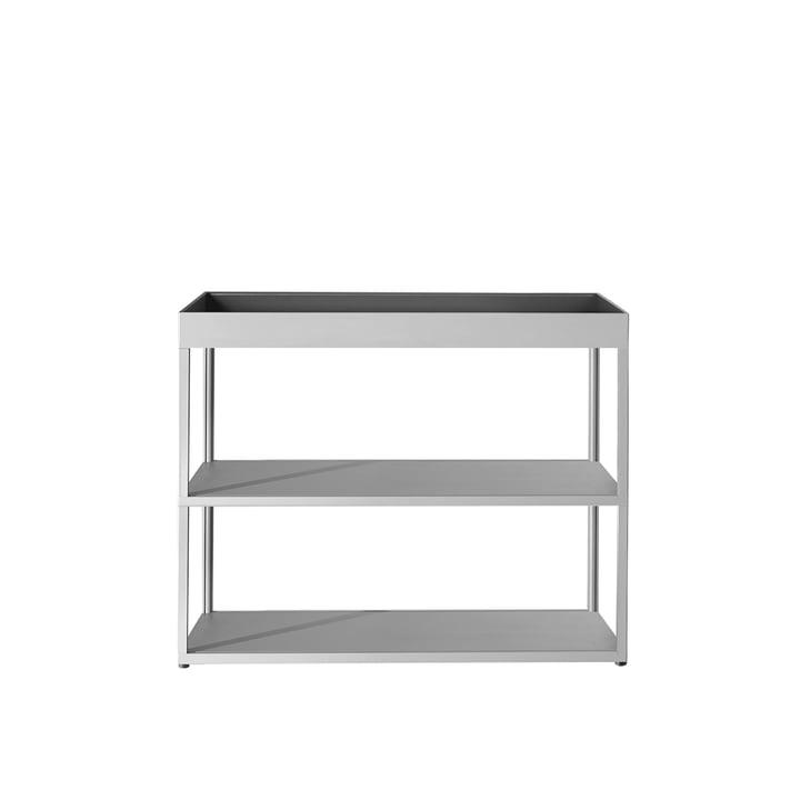 Hay - Buffet New Order, ouvert avec étagère, gris clair