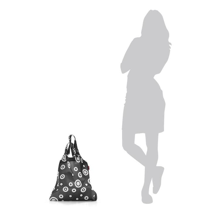 Le mini maxi shopper de reisenthel en anthracite avec bulles