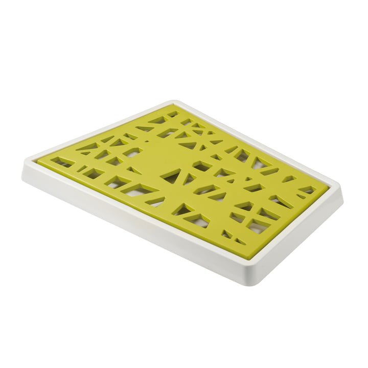 Koziol - Planche à découper le pain Matrix, vert anis et blanc