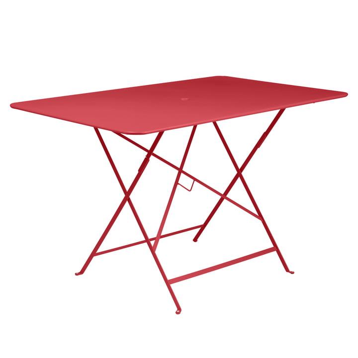 Table pliante Bistro 117 x 77cm de Fermob en rouge coquelicot